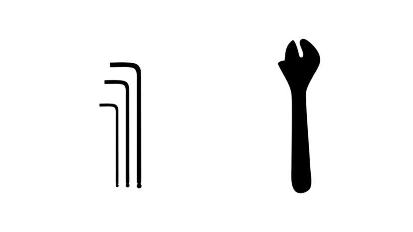 スパナ・レンチ・六角レンチ 寸法表