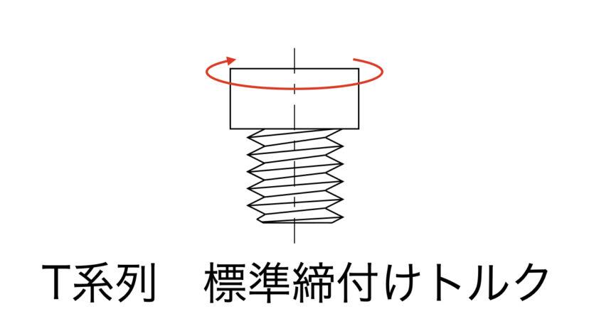 ボルトの締付けトルクで「T系列」を採用する際の注意点